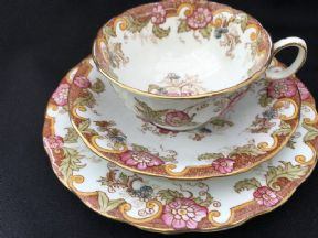 A pretty Victotrian cup saucer and plate set
